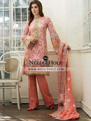 pakistani gown dress tea pink