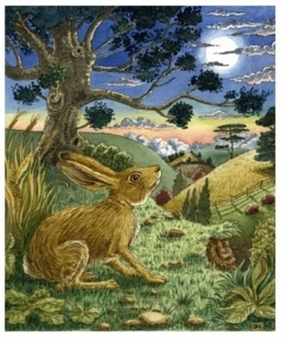 Artwork: Moon-gazing Hare - Open House Art | Art - Crafts - Design | Scoop.it