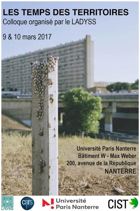 LES TEMPS DES TERRITOIRES - Sciencesconf.org | Ambiances, Architectures, Urbanités | Scoop.it