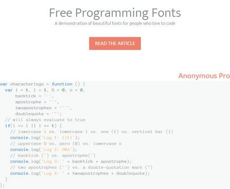 Top 10 Free Programming Fonts   Website Typography   Scoop.it
