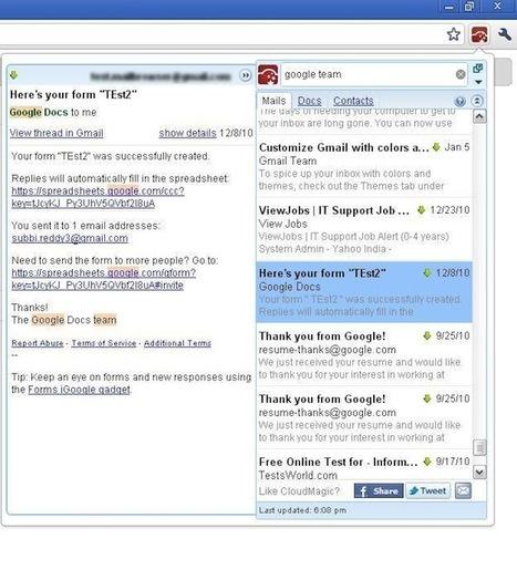 Gmail : recherchez et affichez vos mails, documents et contacts lorsque vous êtes hors ligne   Descary.com   Outils et  innovations pour mieux trouver, gérer et diffuser l'information   Scoop.it