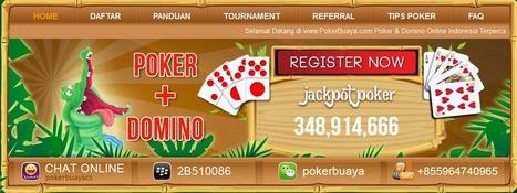 Pokerbuaya agen judi poker domino online indonesia terpercaya free u spin slots