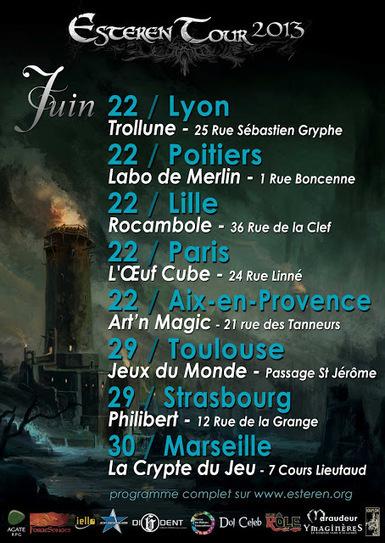 Les dates du Esteren Tour pour le mois de juin ! | Jeux de Rôle | Scoop.it