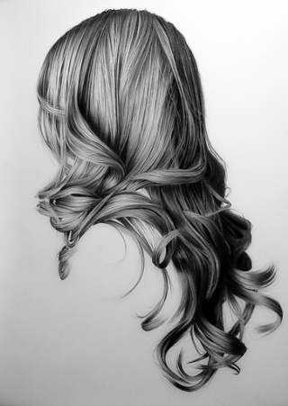 Pencil Sketching Hair Tutorial