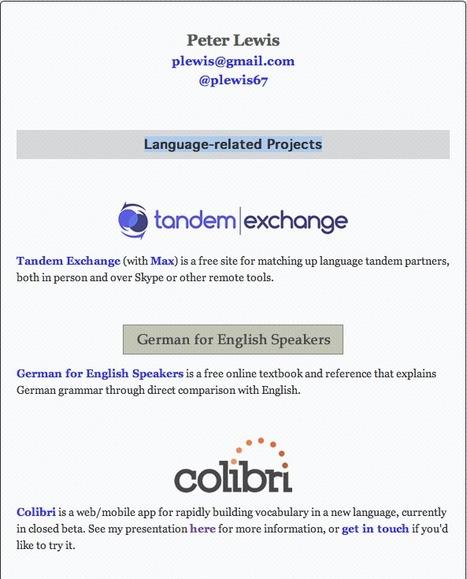 EN: Peter Lewis - Language-related Projects | LinguaCamp | Scoop.it