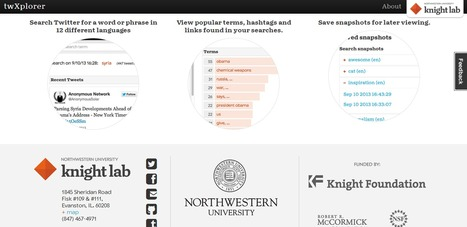 Knight Lab Is Developing Its Smarter Twitter Search Tool: twXplorer | Social Media Content Curation | Scoop.it