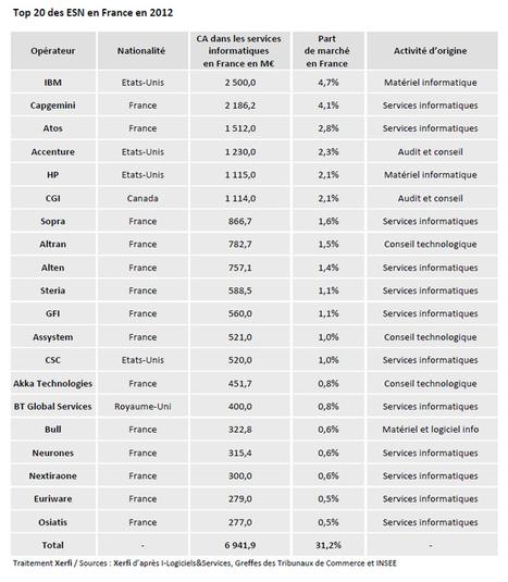 Le Top 20 des Entreprises de services du numérique en France | Actualités Web et Réseaux Sociaux | Scoop.it
