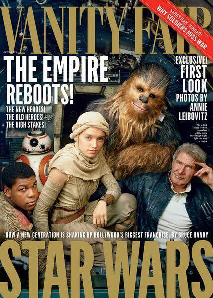 'Chewie, they're home': Vanity Fair cover to feature new Star Wars cast | L'Empire du côté obscure | Scoop.it