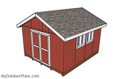 14x16 Shed Plans | MyOutdoorPlans | Free Woodworking Plans and Projects, DIY Shed, Wooden Playhouse, Pergola, Bbq | Garden Plans | Scoop.it