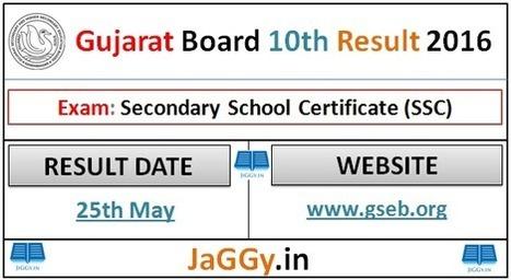 GSEB SSC Result 2016, Gujarat Board 10th Result