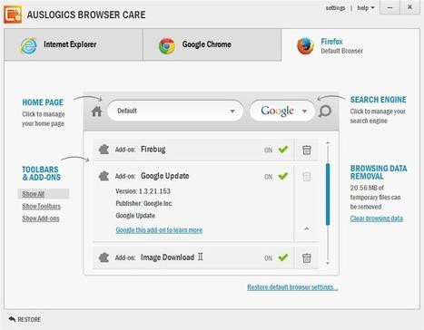 Browser Care: Un seul outil pour nettoyer tous les navigateurs des toolbars | Outil web 2.0 | Scoop.it