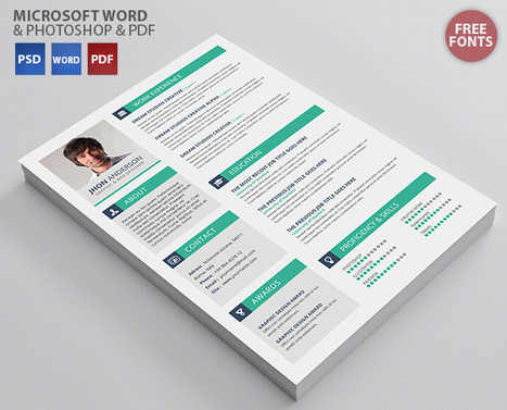 best resume templates in 2015 docx psd scoop it