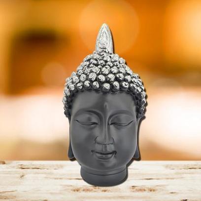 Good Luck Solar Powered Buddha Statue for Car Dashboard Ornament