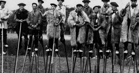 The bizarre stilt-walking shepherds of France's heathlands (Retronaut) | Crossing Wild Pages - fiction, nonfiction, poetry | Scoop.it