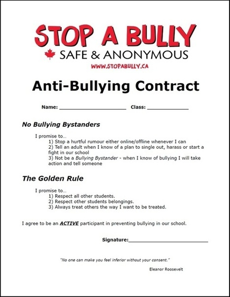 Teacher Talk-: Bullying Awareness Week Nov 12-17 | Library learning centre builds lifelong learners. | Scoop.it