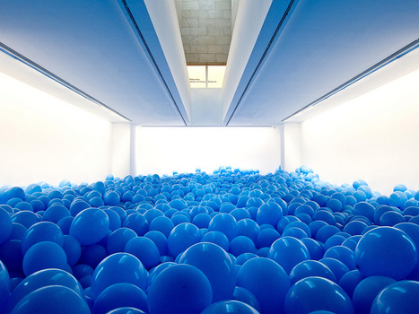 Installation by martin creed entitled 'half the air in a given space' | moby.com | images in context | Scoop.it