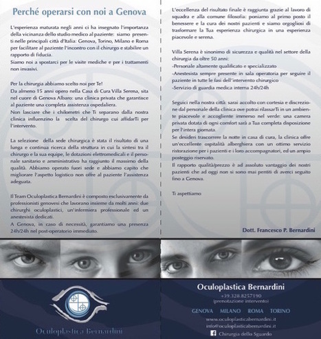 Perché operarsi con noi a Genova a Villa Serena? • Francesco P Bernardini   Chirurgia Plastica Oculo-Facciale   Medicina estetica   Scoop.it