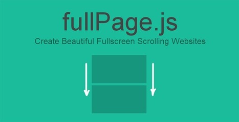 alvarotrigo/fullPage.js | CSS3 Javascript JQuery HTML5 - node.js vert.x | Scoop.it