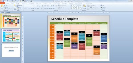 Free Editable Schedule Template for PowerPoint – Event Schedule Template