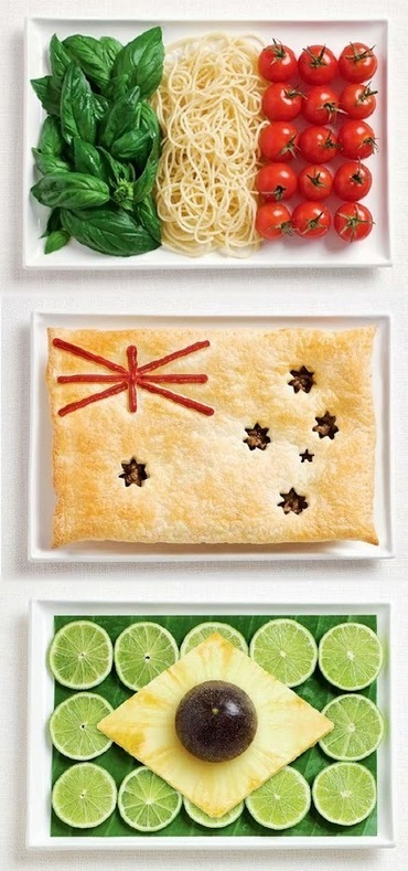 Giovanni Totaro Google+: National Flags created from Foods, what's your favourite?   Only the EXTRAordinary   Scoop.it