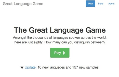 The Great Language Game | Sites for Educators | Scoop.it