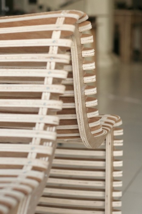 Lounge chair from a curve | DyvikDesign.com | FabLabs & Open Design | Scoop.it