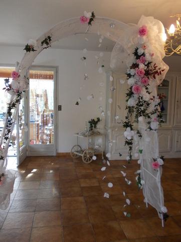 Location d 39 arche de mariage en d coratio - Decoration arche mariage ...