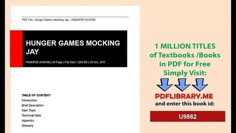 FREE EBOOK PDF HUNGER GAMES PDF DOWNLOAD