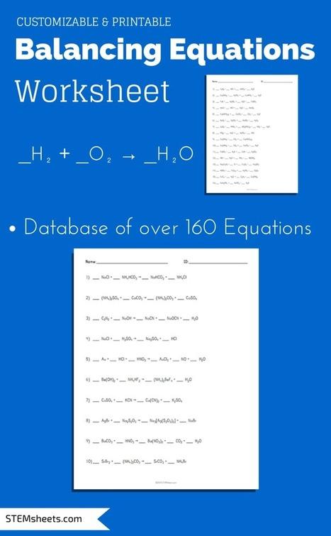 Balancing Equations Worksheet | Science Workshe...