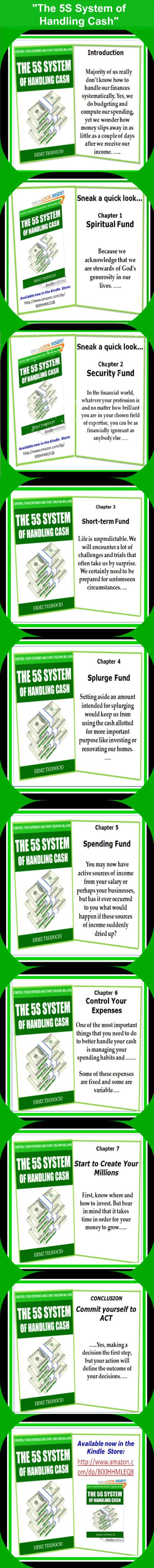 "Sneak peak of the book ""The 5S System of Handling Cash"" – Infographics | Finance | Scoop.it"