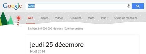Google se prépare à Noel en décorant sa page des résultats | Applications du Net | Scoop.it