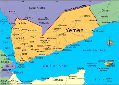 Map of Yemen I Am Nujood Age 10 and Divorced