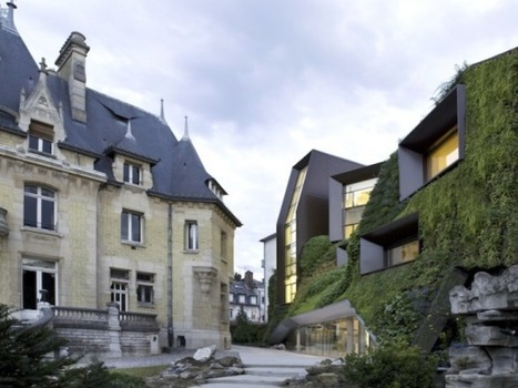 Spectacular Japanese-style Vertical Garden Clads the Picardy Regional Chamber of Commerce and Industry in France | It´s about Architecture | Scoop.it