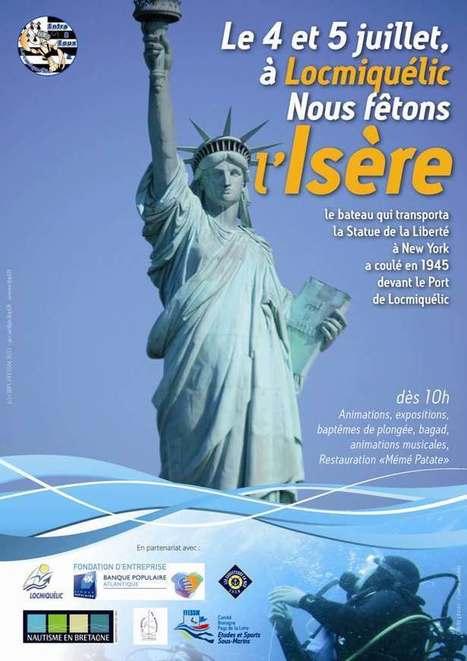 Insolite : L'épave qui a transporté la Statue de la Liberté à New York est à Locmiquélic !   Moi, je plonge à l'Ouest !   Scoop.it