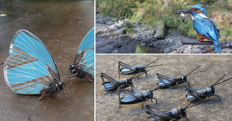 Welded Insects Produced From Salvaged Metal Scraps by John Brown | Culture and Fun - Art | Scoop.it