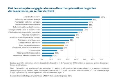 Quelles entreprises pratiquent la gestion des compétences ? | France Stratégie