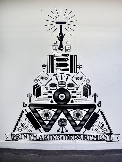 KCAI Printmaking Department Wall - JANDRO MONTERO | Inspiring Creativity | Scoop.it
