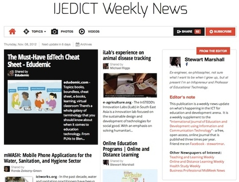 Nov 8 - IJEDICT Weekly News is out | Studying Teaching and Learning | Scoop.it