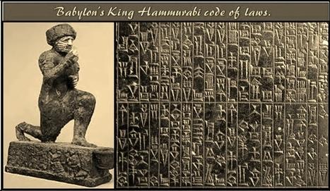 Babylonian King Hammurabi's code of laws.   Ancient Art History Summary   Scoop.it