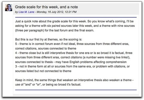 Visual tricks for instructor forum posts « Lisa's (Online) Teaching Blog | Elearning Pedagogy | Scoop.it