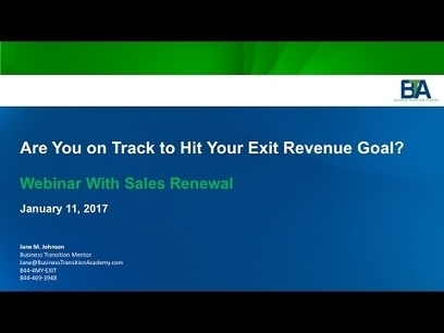 Are You on Track to Hit Your Exit Revenue Goals?
