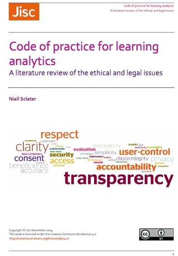 Code of practice for learning analytics: A literature review of the ethical and legal issues | Learning Analytics, Educational Data Mining, Adaptive Learning in Higher Education | Scoop.it
