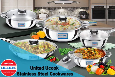 46f46c3079c UNITED UCOOK LIFETIME STAINLESS STEEL COOKWARE COMBO SET