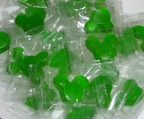 Green Candy Mickey Mouse Gummies | Candy Buffet Weddings, Events, Food Station Buffets and Tea Parties | Scoop.it