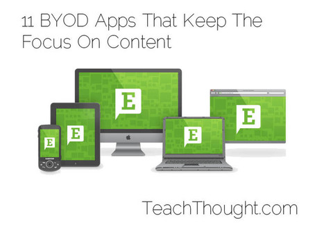 11 BYOD Apps That Keep The Focus On Content | Language Learning: Digital tools and virtual spaces | Scoop.it