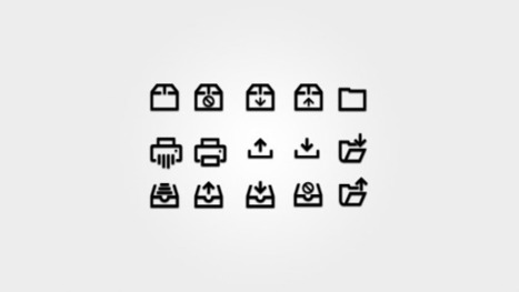 Business HTML Glyphs & Icons | elearning stuff | Scoop.it