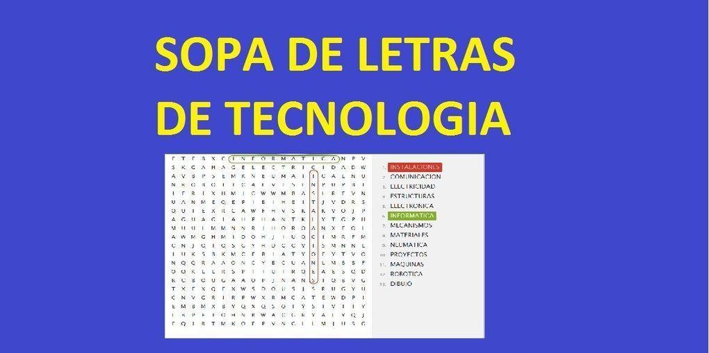 Sopa de Letras de Tecnologia Online Gratis | ED...