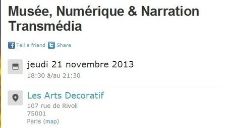21 nov.2103 : un Meetup Musée, Numérique & Narration Transmédia | Experience Transmedia | Transmedia news… | Experience Transmedia | Scoop.it
