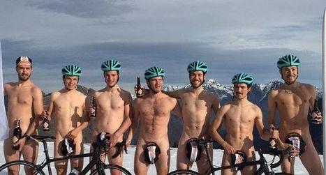 L'équipe cycliste pose à poil…  pour se remplumer | La lettre de Toulouse | Scoop.it