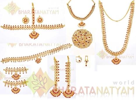 Online Bharatanatyam Dane Costume Dance Jewellery Bharatanatyamworld Dazzling Premium Wwwdance